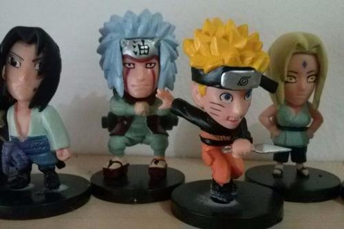 sasuke, jiraya, tsunade, naruto. cada peça/unid
