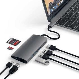 Satechi Usb-c Multiporta V2 Space Gray Mac Macbook Pro iPad