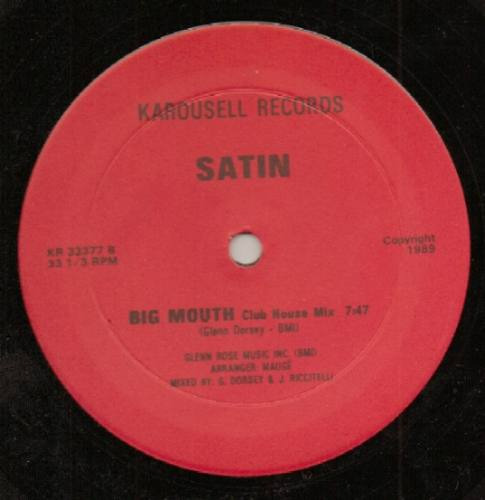 satin  12 single  big mouth   importado 1989