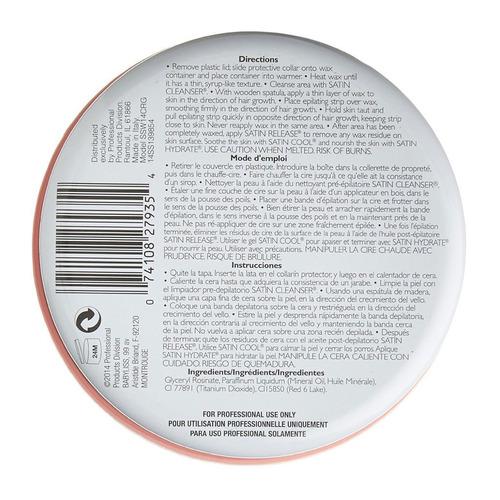 satin smooth cera depilatoria crema deluxe con banda