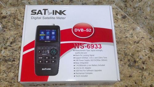 satlink ws-6933 dvb-s2 localizador satélite original serie a