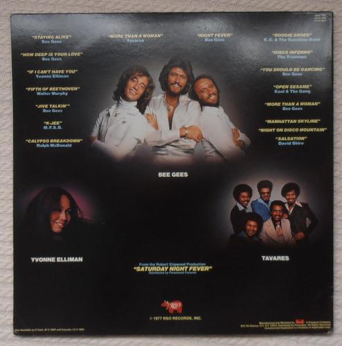 saturday night fever soundtrack (2 l ps 1ra. ed. u s a 1977)