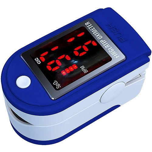 saturometro oximetro de pulso digital con estuche y correa.