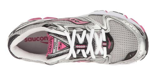 saucony grat stratos 5 plata /negro /rosa - talla 9.5