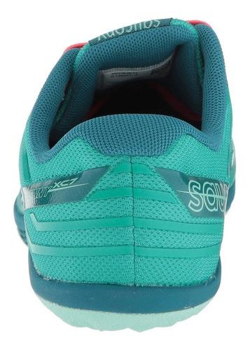 saucony kilkenny xc7 verde azulado /rojo - talla 12