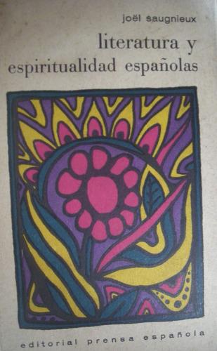 saugnieux, joel - literatura y espiritualidad españolas, edi