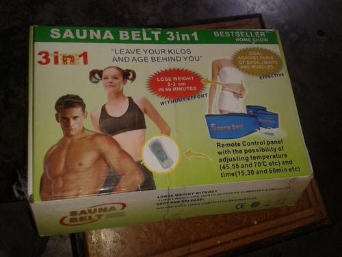 sauna belt 3 en 1 nuevo en su caja original