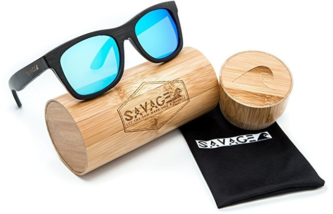 ada2a9189b Savage Bambú Gafas De Sol Hechas A Mano De Madera - Sombras ...