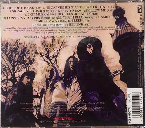 savatage - edge of thorns - cd novo - accoustic bonus track