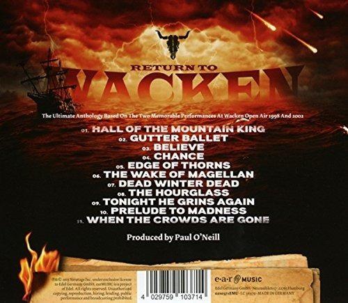 savatage return to wacken uk import  cd nuevo