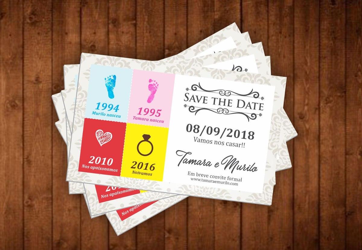 eea78a960cc Save The Date Convite De Casamento Imã De Geladeira 100un - R  108 ...