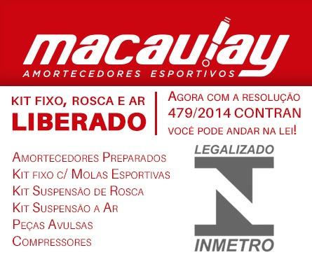 saveiro g5 / g6 - suspensão rosca regulável macaulay oficial