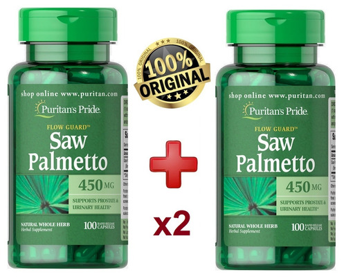 saw palmetto 450 mg - 200 cap - puritans pride 100% original