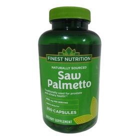 Saw Palmetto 450mg 250 Cápsulas       Finest Nutrition