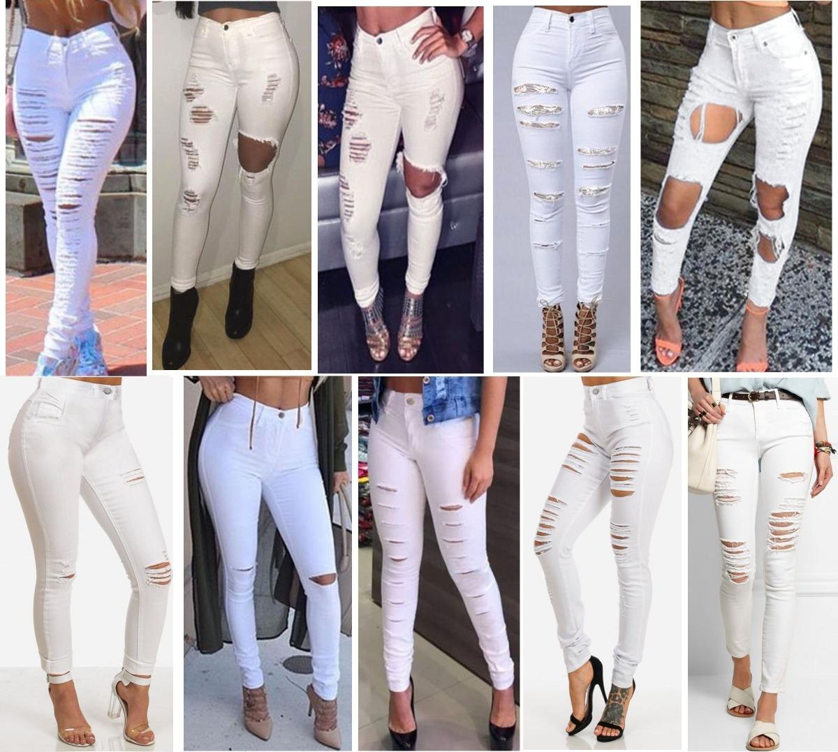4dd33abb9 sawary calça jeans cintura alta feminina roupas rasgada dins. Carregando  zoom.