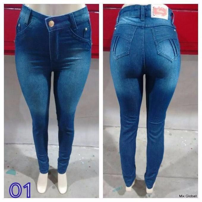 ad6aaee53 Sawary Calça Jeans Feminina Levanta Bumbum Com Lycra Sabrina - R$ 84 ...