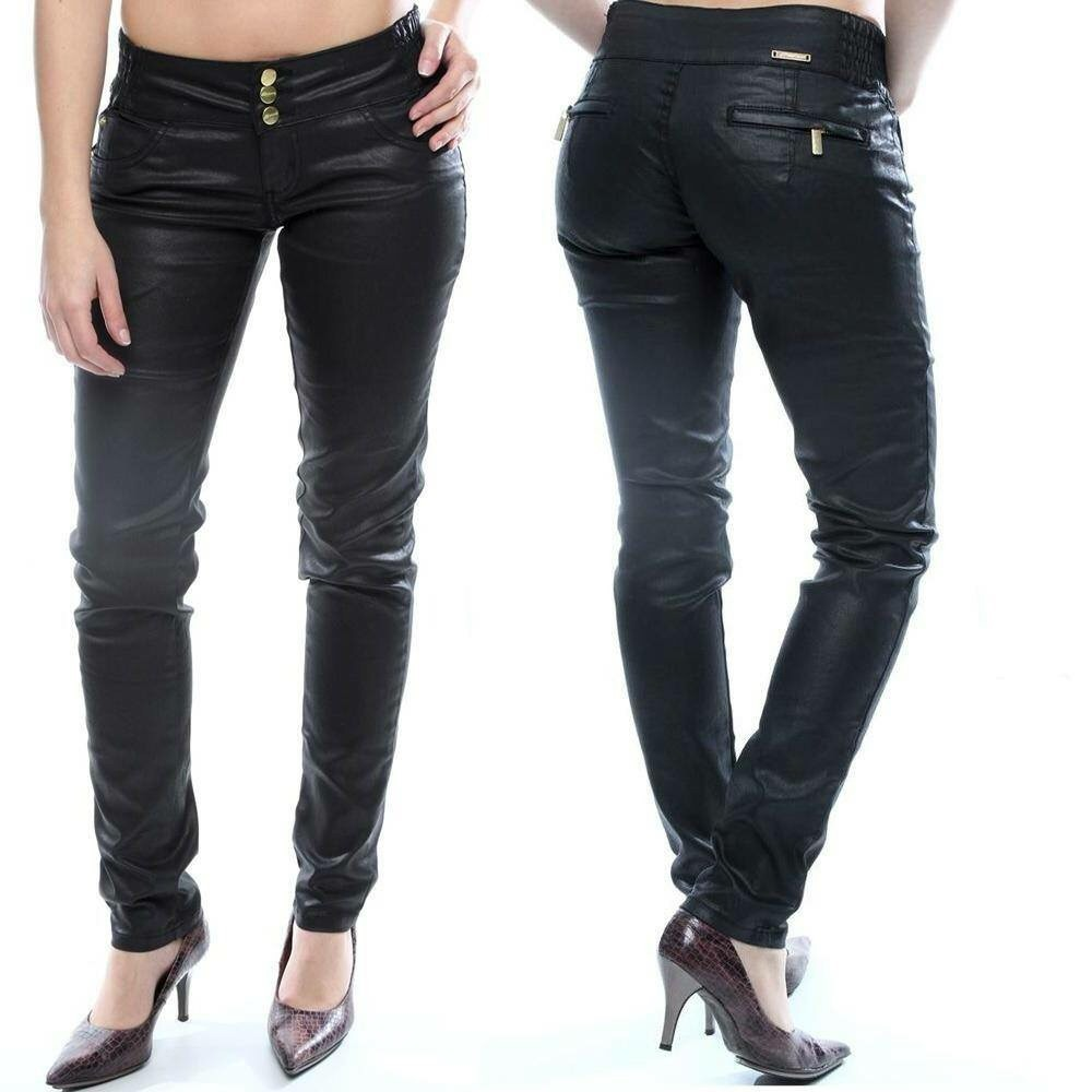 fd6a9838b Sawary jeans calça legging couro preta com elastano jpg 1000x1000 Sawary  calcas