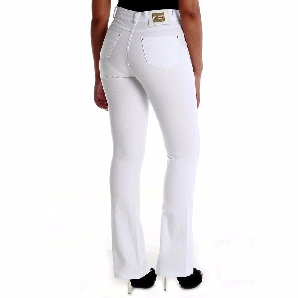 bf5d6a734 Sawary Jeans Calça Cintura Alta Hot Pant Flare - R$ 134,99 em ...