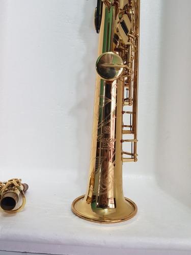 sax soprano yamaha yss875exhg custom, com chave de sol front
