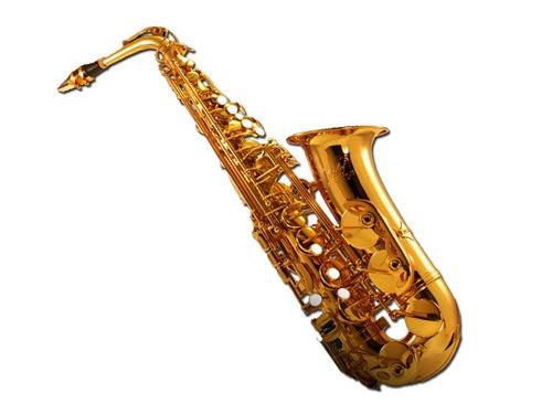 saxo alto clef csa150 gold dorado fa# con estuche - envios