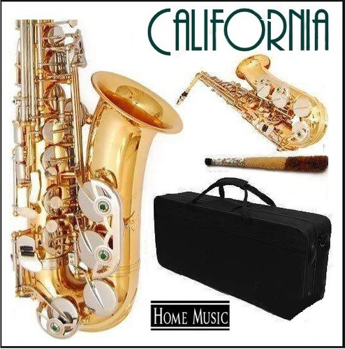 saxo alto dorado california  estuche rigido g