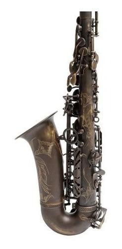 saxo alto evolution vintage parquer+estuhe+cañas+kit