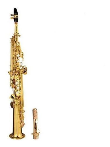 saxo soprano knight jbsst-400 bb, lllave f# . musicapilar