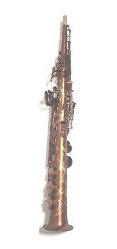 saxo soprano renasseinse parquer + estuche + kit + cañas