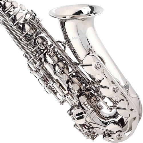 saxofon alto mendini lacado en plata mi bemol envio gratis