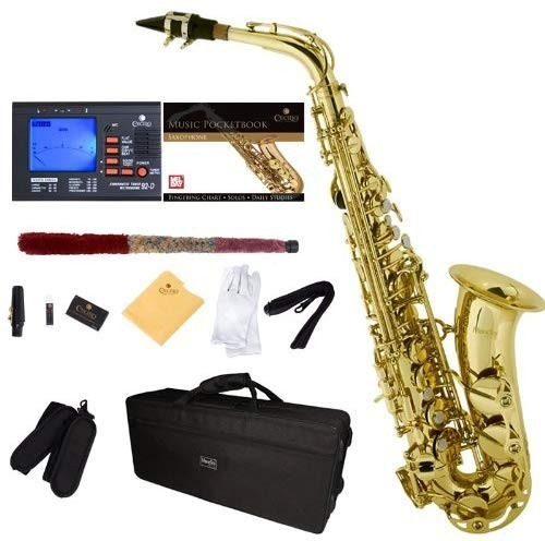 saxofón alto mendini por cecilio eb con sintonizador