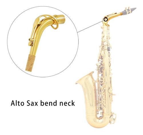 saxofón alto sax bend neck material de latón 24.5mm con paño