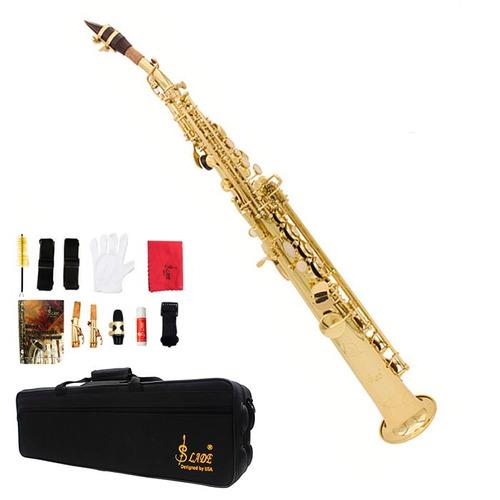 saxofon soprano recto lade sib estuche sax nuevo profesional