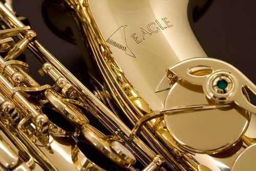 saxofone alto eb laqueado eagle sa501