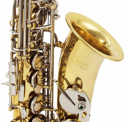 saxofone amw custom alto laqueado e niquelado eb + estojo !