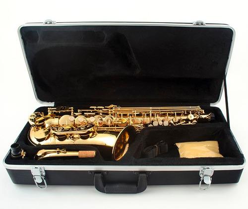 saxofone amw custom alto laqueado top eb mi bemol  + estojo