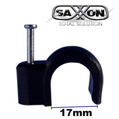 saxxon egrapn17 - bolsa de 100 grapas de pared / color negro