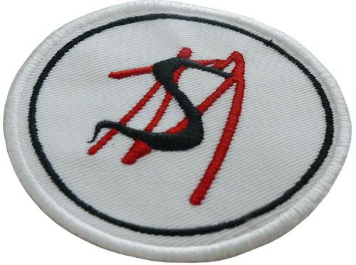 say no more insignias bordadas de 8 cm.
