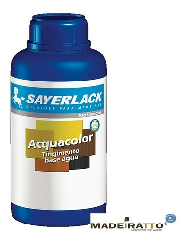 sayerlack acquacolor - preto - tingidor base água - 500ml