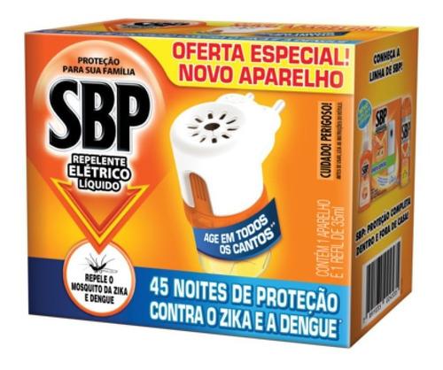 sbp elétrico liquido 45 noites aparelho e refil 35ml