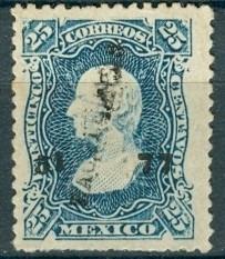 sc 109 año 1877 hidalgo 25 cent dist 51 zacatecas no. separa