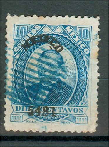 sc 126 juarez 10 cent papel grueso año 1881 dist 54 mexico