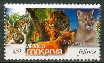 sc 2362 (s3) año 2004 conserva felinos .50c perf 13