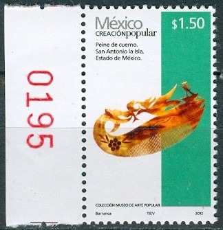sc 2490 año 2012 creacion popular peine de cuerno 1.50 pesos
