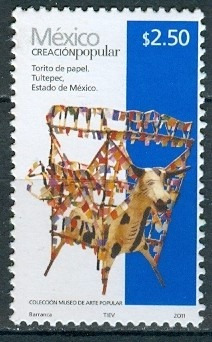 sc 2492 año 2011 creacion popular torito de papel 2.50 pesos