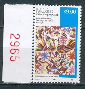 sc 2501 año 2014 creacion popular mantel bordado 9 pesos rev
