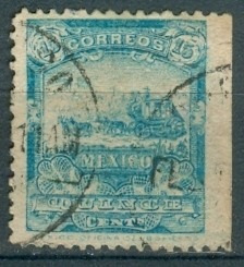 sc 286 año 1898 mulita 15c  sin marca de agua
