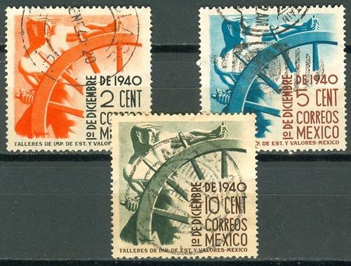 sc 764-766 año 1940 hombre y timon