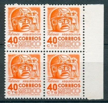 sc 880 año 1954 mnh tabasco cabeza de piedra