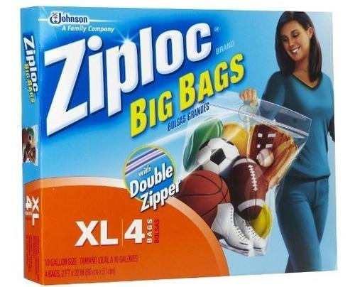 sc johnson ziploc big bags, xl, 24 x 20 pulgadas, paquete d