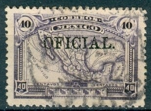 sc o188 año 1927 oficial mapa republica mexicana